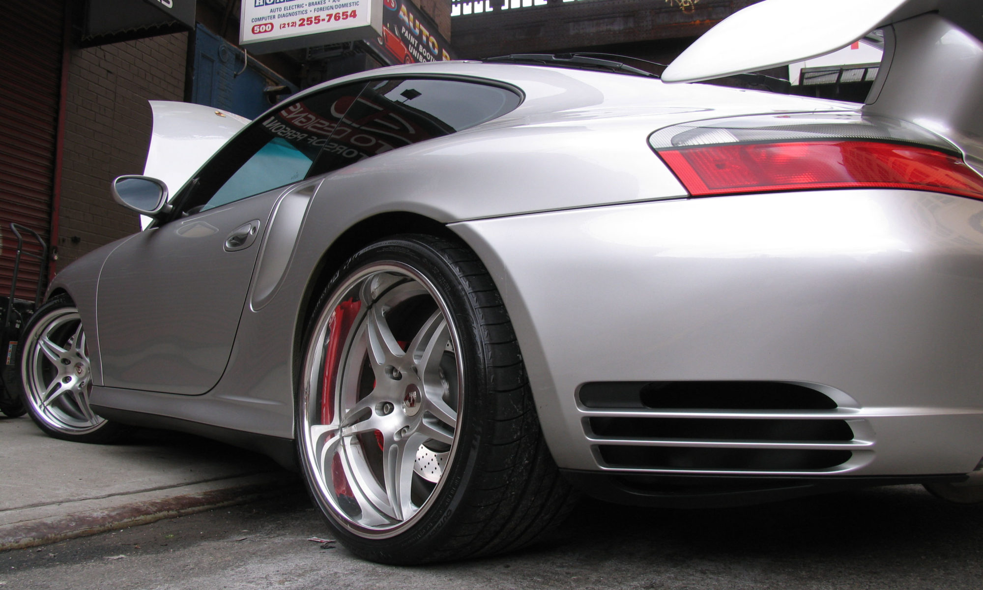 911 turbo coupe. Services: Rear wing install, custom wheel and tire package and ceramic window tint.
